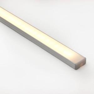 Detalhes do produto Perfil alumínio de sobrepor slim difusor leitoso para LED