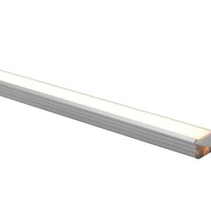 Detalhes do produto Perfil alumínio de embutir standard difusor leitoso para LED