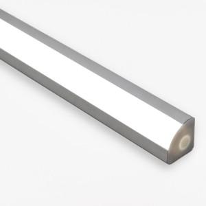 Detalhes do produto Perfil alumínio de canto em V difusor leitoso