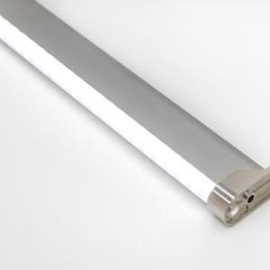 Detalhes do produto Perfil alumínio oblongo difusor leitoso para cabideiro LED