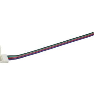 Detalhes do produto Conector click unilateral para Fita LED 10mm RGB