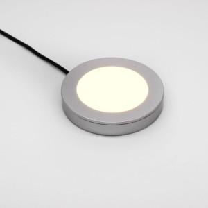 Detalhes do produto Luminária Spot LED 2W branco quente 12V para móveis