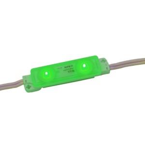 Detalhes do produto Módulo LED SMD 2835 Verde 2 LEDs com lente