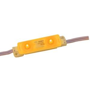 Detalhes do produto Módulo LED SMD 2835 Amarelo 2 LEDs com lente