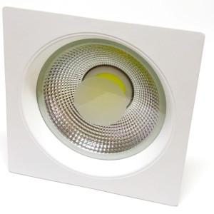 Detalhes do produto Luminária de embutir LED COB 15W Branco Frio Quadrada