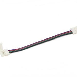 Detalhes do produto Conector click bilateral para Fita LED 10mm RGB